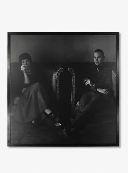 Een zwart-wit portret van Joanna en Michael Ronikier door Craigie Horsfield.