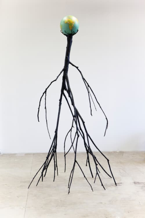 Nervous Tree by Krištof Kintera is an installation shaped like a tree formed by human characteristics.
